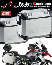 Givi Outback 37 pair of side cases with PL5108CAM Bmw R 1200 Gs adventure 13-16