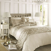 Kylie Minogue at Home Eloise Stone Gold Sequin Duvet Quilt Cover Bedding