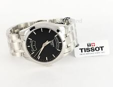 Tissot T0354071105100 Men's Courtier Automatic Day & Date Black Dial Watch NEW