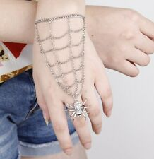 New Design Spider Ring Web Ring Hand Chain Links Bracelet Jewelry Gift Box