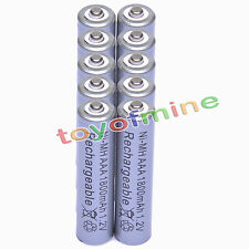 10 AAA 1800mAh 1.2V Ni-MH Rechargeable battery 3A Grey Cell Nickel Metal Hydride