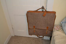Hartmann Tweed & belting leather garment bag travel vintage  folding  suit case