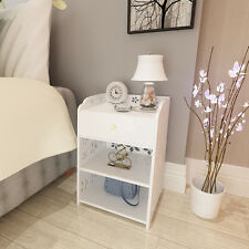 Modern Jane European Style Cabinet with a Drawer Night Stand bedside table White