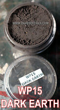 WP15 DAVART DAVE'S WEATHERING POWDERS ALL NATURAL PIGMENT DARK EARTH