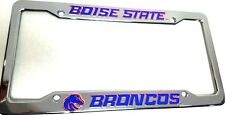 Boise State Broncos  Plastic License Plate Frame  Low Cut for Tags  FRAME
