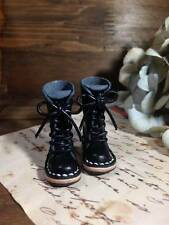 Neo Blythe handmade leather BLACK  QUALITY boots