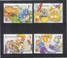 SINGAPORE 2005 200TH ANNIV. CELEBRATIONS OF HANS CHRISTIAN ANDERSEN SET 4 STAMPS