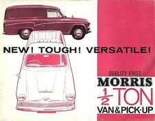 MORRIS 1/2 TON VAN & PICK UP BROCHURE.