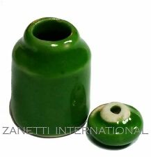 Dollhouse Miniature Green Ceramic Canister Cookie Jar * Doll Mini Food Container