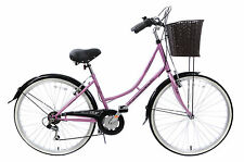 "CLASSIQUE TRADITIONAL HERITAGE LADIES DUTCH LIFESTYLE BIKE+BASKET 19"" 44% OFF"