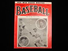 Spring 1953 Original Baseball Magazine - Pee Wee Reese Cover & Article!
