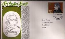STAMPS. ROYAL MAIL FDC – Sir WALTER SCOTT – 28th July 1971.