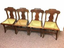 Set of 4 19th Century Tiger Figured Maple Fiddleback Chairs