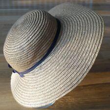 chapeau de paille ancien pour femme / belle époque / taille 55