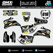 YAMAHA YZF 250 YZF 450 4-stroke decals graphics stickers kit 2006 2007 FLY