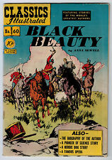 CLASSIC ILLUSTRATED #60 3.0 1ST EDITION BLACK BEAUTY OW/WHITE PAGES GOLDEN AGE
