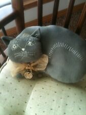 Made to Order Primitive Black Cat Halloween Pillow Grungy Home Decor
