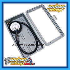 Go Kart Tyre Gauge 65mm Pressure + Carry Case Genuine Prodezine Analogue Rotax