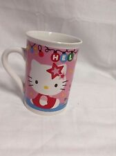 "2014 Sanrio Hello Kitty Coffee Mug Cup 4"" tall x 3"" diam VGC CUTE"