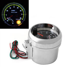 "Universal Car Tachometer Gauge With Shift Light 0-8000 RPM 12V 3.75"" Tacho New"