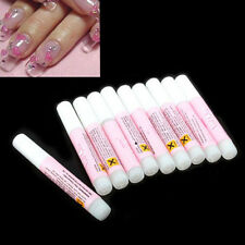 5pcs Nail False Glue Art Decorate Sticks Tips Nail Care Manicure Tool Acrylic