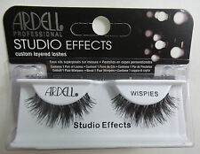 (LOT OF 3)  Ardell Studio Effects WISPIES False Lashes Eyelashes Black Strip