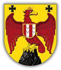 Burgenland City Coat Of Arms Austria Car Bumper Sticker Decal 4'' x 5''