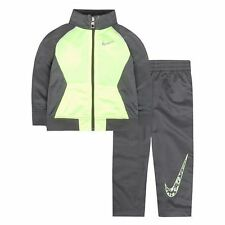 BOYS/KIDS Nike Swoosh GFX Gray Tricot Track Jacket & Pants Set $56.00 (SIZE 7)