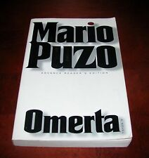 Omerta, Mario Puzo* 1st Ed Uncorrected Proof**Last book in the Godfather Trilogy