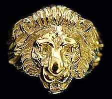 LOOK Lion Ring Sterling Silver Jewelry Cat 24kt Gold Plated