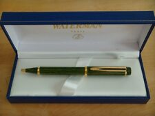 WATERMAN LE MAN 100  GREEN  WOOD  BALLPOINT PEN  NEW  IN BOX