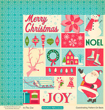 October Afternoon Christmas ~ Holiday Style Paper ~ Santa Claus Lane