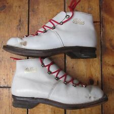 CROSS Country Da Sci Sci Vintage in Pelle Bianco Scarpe Stivali PALLADE EURO 38 UK 5