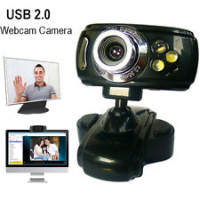 HD 20 Mega USB 3 LED Webcam Night Vision Cam Camera PC Laptop with Mic Clip New