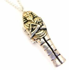 Egyptian Mummy Case Locket Amulet Pendant Necklace Jewels of Atum Ra JA08