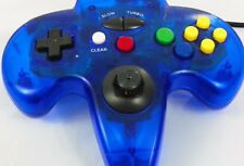 N64 Clear Blue Controller Nintendo 64 Turbo Clear Blue video Game Vintage Wired