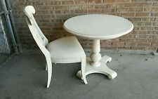 Ethan allen new country Tanner pedestal table and chair 34 inches apartment size