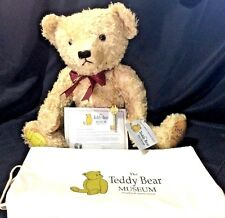 "Teddy Museum 100th Anniversary LE #25 Stratford-Upon-Avon 22"" Jointed Bear + Key"