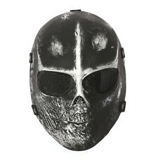 NEW Skull Full Face Mask SOFTAIR MASCHERA Airsoft Paintball Hunting  Halloween