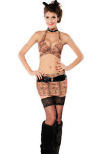 Sexy Women's Tiger Fancy Dress Halter Costume Lingerie Animals & Nature
