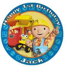 """Bob The Builder Personalised Cake Topper Edible Wafer Paper 7.5"""""""