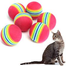 6Pcs Lots Petit Doux Rainbow Balle Boucle Mousse Chat Chaton Minou Animaux Jouet
