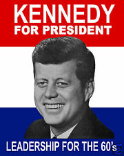 John F. Kennedy JFK 1960 For President Campaign 8 x 10 Poster Photo Photograph