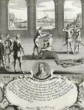 Roi Childeric III Mérovigien Gravure originale Nicolas de Fer 1722