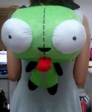 Green Alien Invader Zim Gir Stuffed Plush Backpack Bag CUTE 14 inch New W/Tag