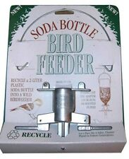 Audubon Wild Bird Feeder- Recycle a 2-Liter Plastic Soda Bottle Made of Zinc USA