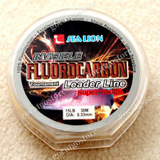 NEW Sea Lion 100% Made in Japan Fluorocarbon Leader Fishing Line 15LB 30M