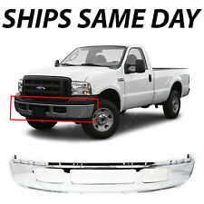 NEW Chrome - Steel Front Bumper 2005-2007 Ford F250 F350 Super Duty w/out Flares