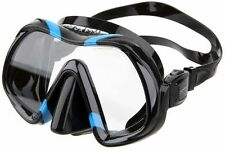 Atomic Aquatics Venom Scuba Dive Mask with Schott Ultra Clear Glass - BLUE BLACK
