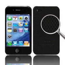CUSTODIA HARD CASE RIGIDA PER APPLE IPHONE 4 4G COVER NUOVO GUSCIO NERO MESH
